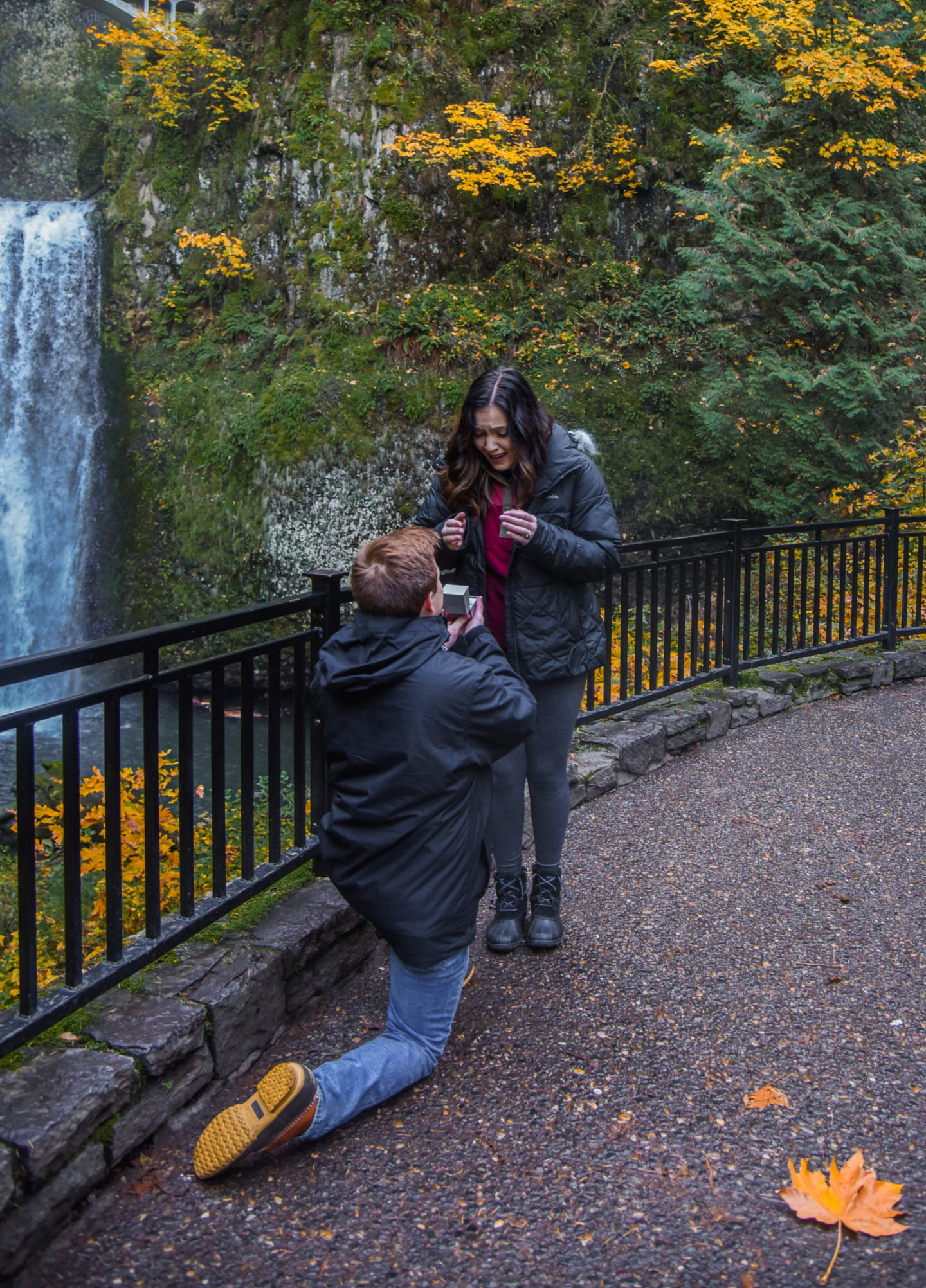 multonomah falls, oregon, travel, earthpix, watefall, proposal
