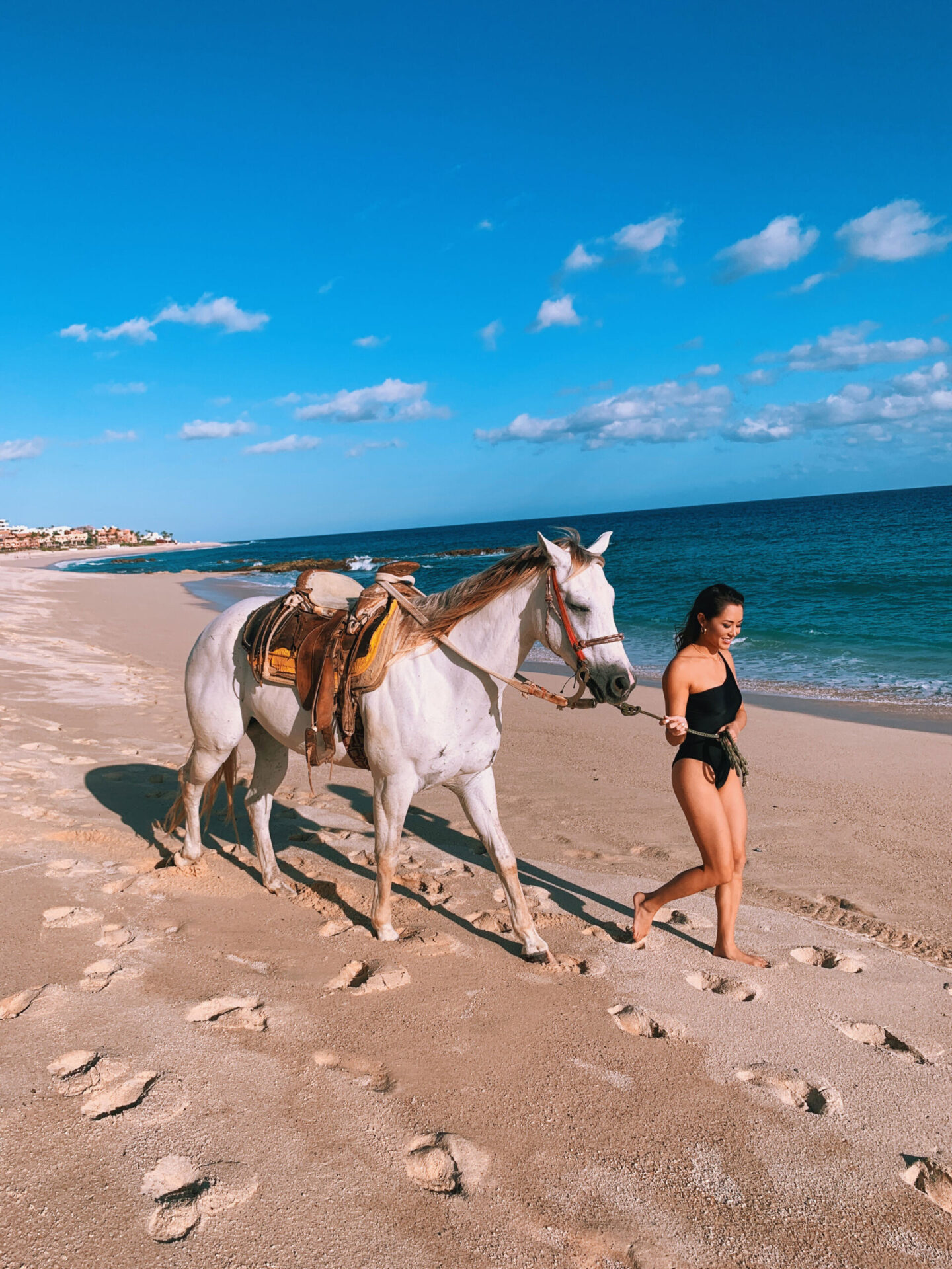 cabo, horse, beach, travel, mexico, revolve, bathing suit