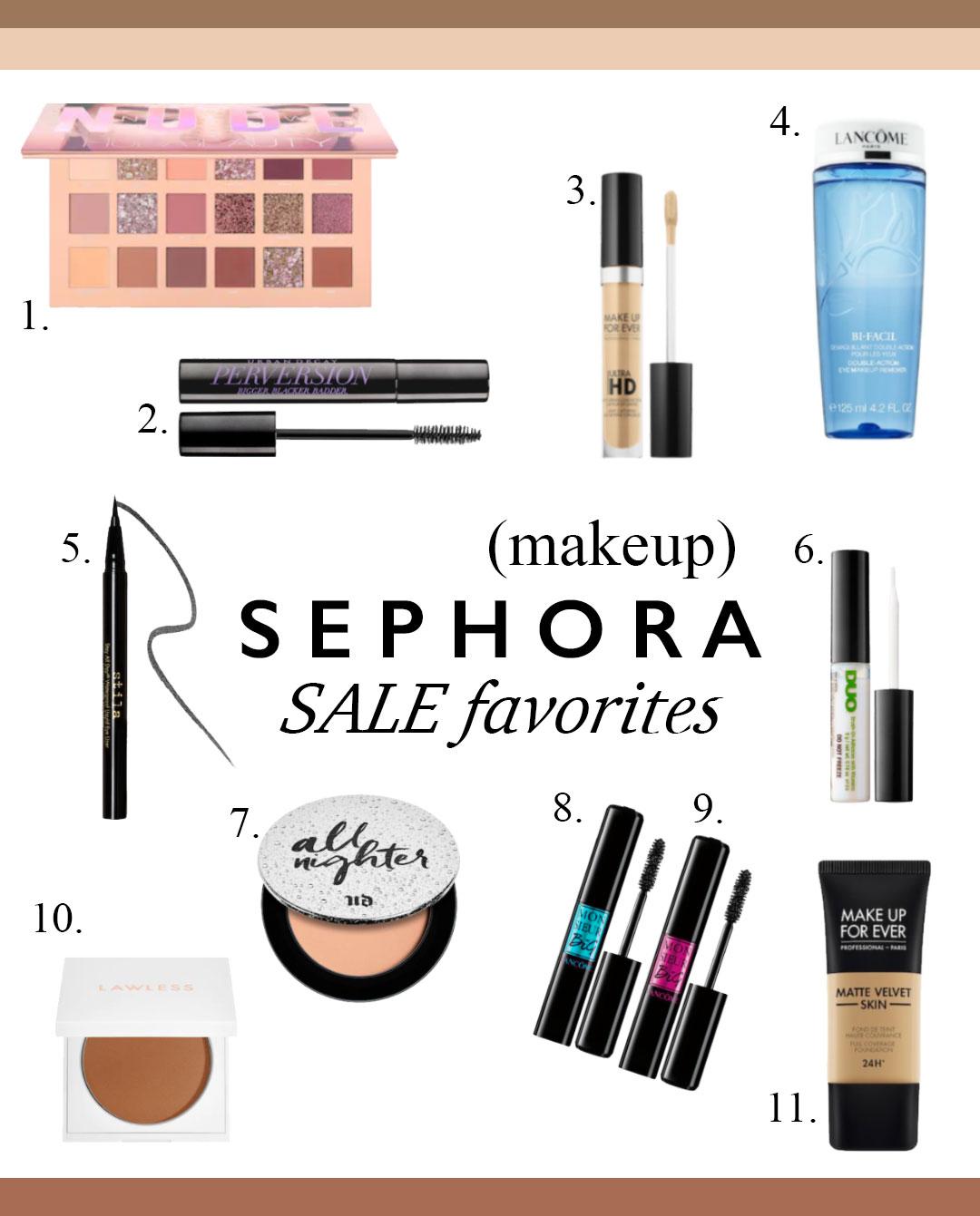 sephora, spring sale, makeup, beauty, eyeshadow, eyeliner, concealer, foundation, mascara, waterproof mascara, bronzer, mineral bronzer,